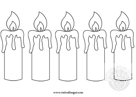 disegni candele corona santa lucia candele da ritagliare tuttodisegni