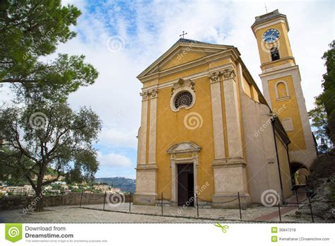 Small Rustic House Plans church our lady of assumption in eze france royalty free