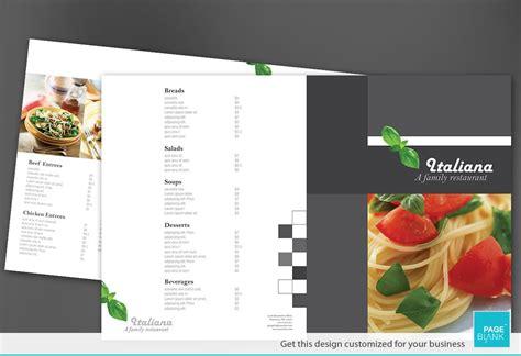 half fold menu template half fold brochure template for italian restaurant order