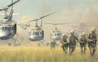 Photo Wallpaper War Soldiers Vietnam Landing Figure Helicopters