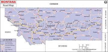 Road Map Montana by Montana Road Map Http Www Mapsofworld Com Pinterest