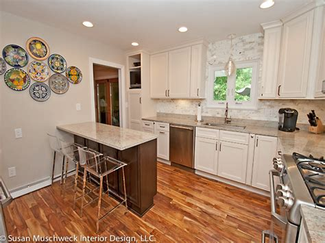 Building A Kitchen Island Plans by Updated Kitchen With Small Breakfast Bar Traditional
