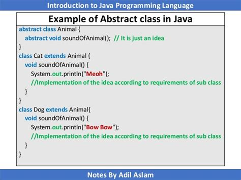 c tutorial abstract class object oriented programming in java slide 5 6