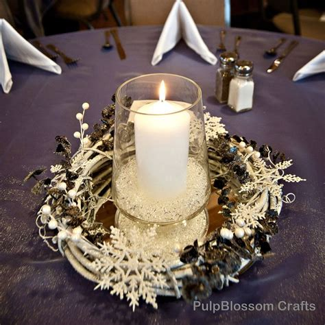 Snowflake Table Decorations by 10 Winter Wedding Centerpieces Snowflake Theme 70 00 Via Etsy I Weddings