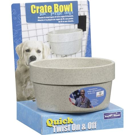happy home products happy home pet products dog crate bowl for large dogs 1ct