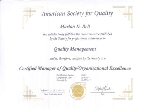 certified total quality manager ctqm international standard in total quality management books certified manager of quality org excellence certificate