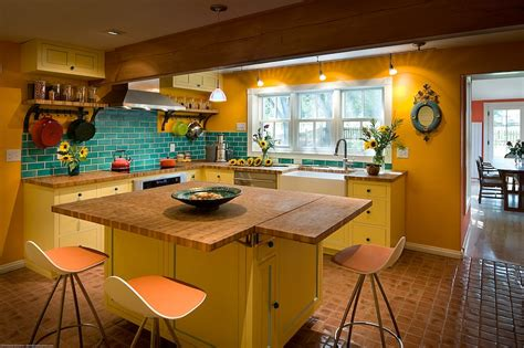 Kitchen Living Space Ideas by Yellow And Blue Interiors Living Rooms Bedrooms Kitchens