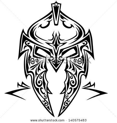 tribal tattoo knight tribal vector knight helmet by tomic art via