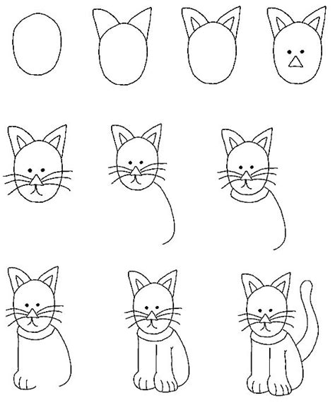 how to draw doodle cat 154 best drawing tutorials cats and dogs images on
