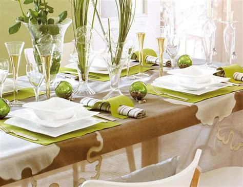 bamboo dining table settings