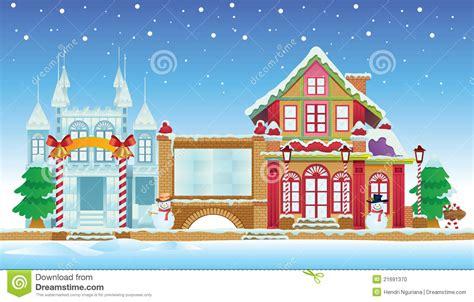papa s ice house het huis van de kerstman en het kasteel van het ijs vector