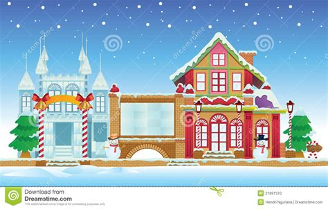 santa house santa house and ice castle stock vector image of cartoon 21691370