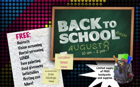 22 Back To School Flyers Free Psd Ai Eps Format Download Free Premium Templates Back To School Bash Flyer Template Free