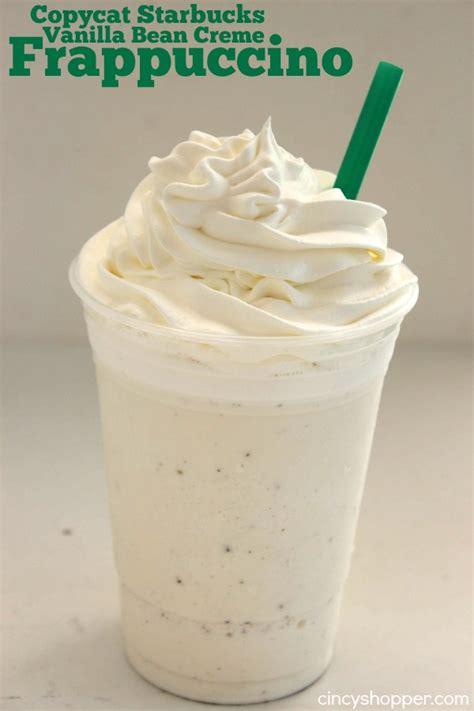 Vanilla Coffee Frappuccino copycat starbucks vanilla bean frappuccino cincyshopper
