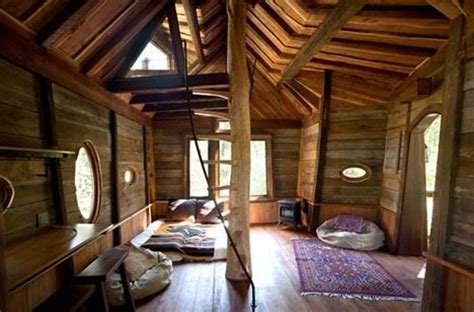 log loft picturesque tree house for adults alike