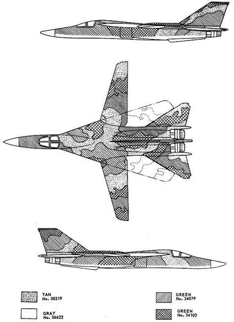 general dynamics f 111 southeast asia camouflage scheme color profile and paint guide