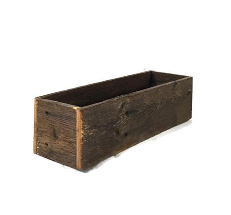 reclaimed wood box rustic centerpiece boxes wedding decor