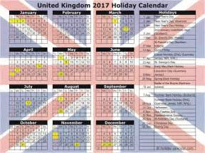 2018 Calendar Uk With Bank Holidays United Kingdom 2017 2018 Calendar