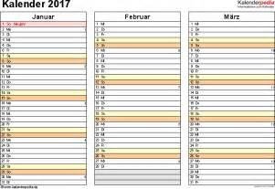 Kalender 2017 Monatsweise Kalender 2017 Zum Ausdrucken Als Pdf 16 Vorlagen Kostenlos