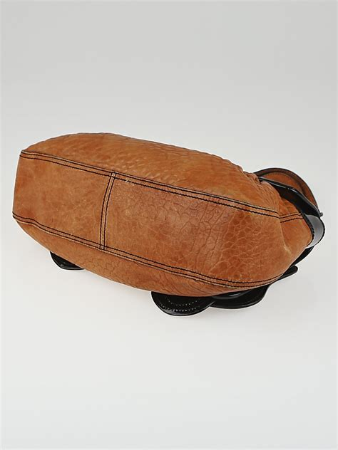 Fendi B Patent Bag by Fendi Brown Leather And Black Patent Leather B Bag Yoogi