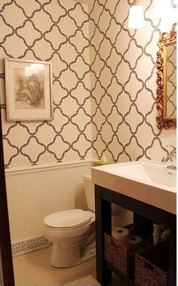 Removable Wallpaper Sherwin Williams by Cococozy Bath Week Reader Submissions Bathroom