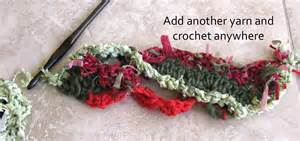 Step 5 continue to change your yarn colors and texture i put