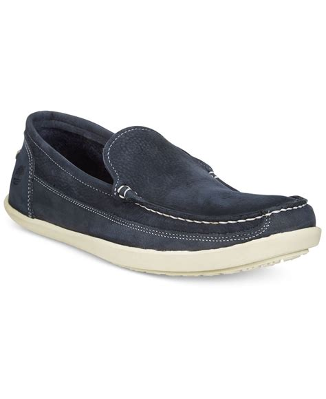 timberland loafers timberland s odelay venetian loafers in blue for