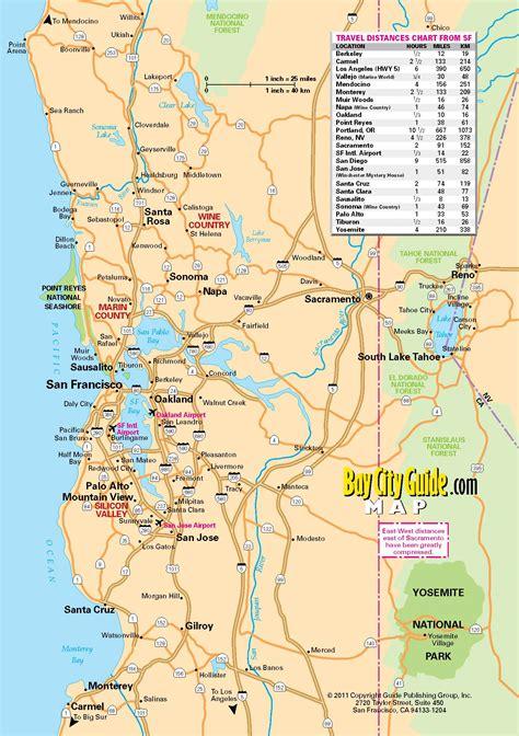 san francisco freeway map map of california my