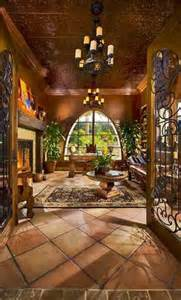 Home Interior Mexico by Rancho Santa Fe Home Terracotta Tile Arched Windows And