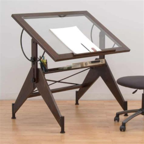 Best Drafting Table Studio Designs Aries Glass Top Drafting Table 13310
