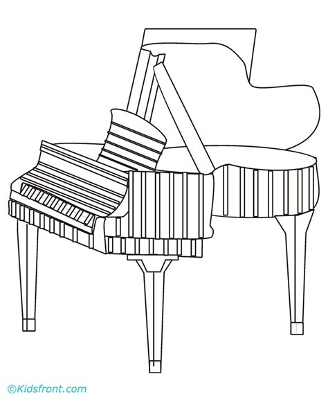 piano coloring pages piano coloring pages