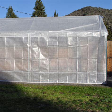Carport Greenhouse Conversion 20x20 replacement greenhouse 5 combo kit costless tarps