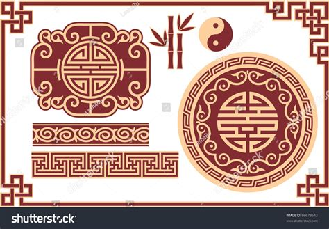 oriental design vector set oriental chinese design elements stock vector