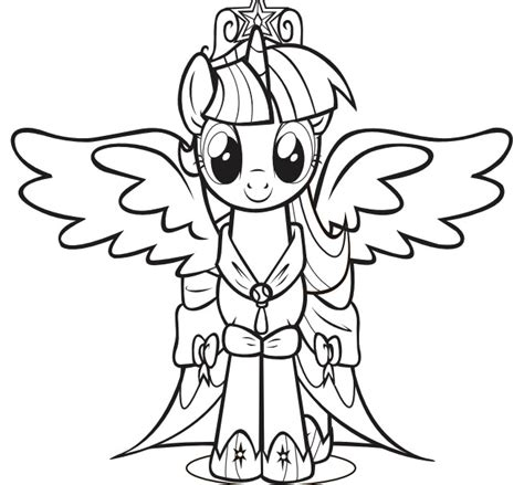 princess twilight sparkle little pony coloring pages