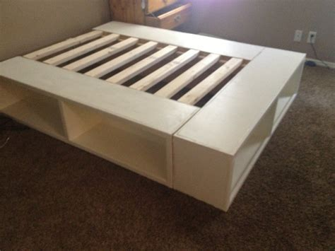 make a bed frame happy huntsman diy storage bed