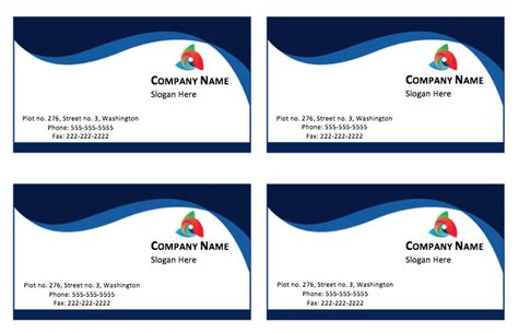 blue business card template printable templates