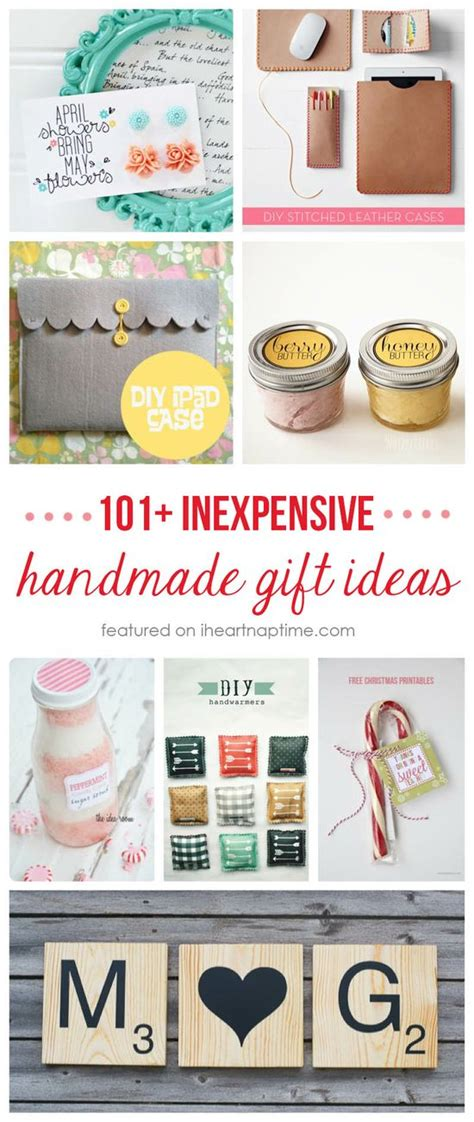 Some Handmade Gifts - 101 inexpensive handmade gifts on iheartnaptime