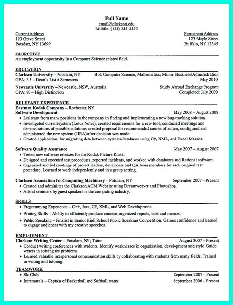Resume Template High School Senior by The College Resume Template To Get A