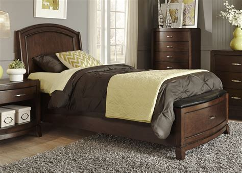 avalon bedroom set avalon truffle youth leather storage bedroom set from