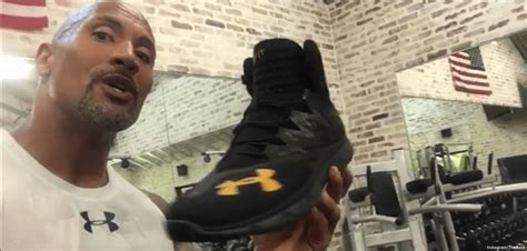 dwayne johnson the rock shoes dwayne the rock johnson gets hyped about new under