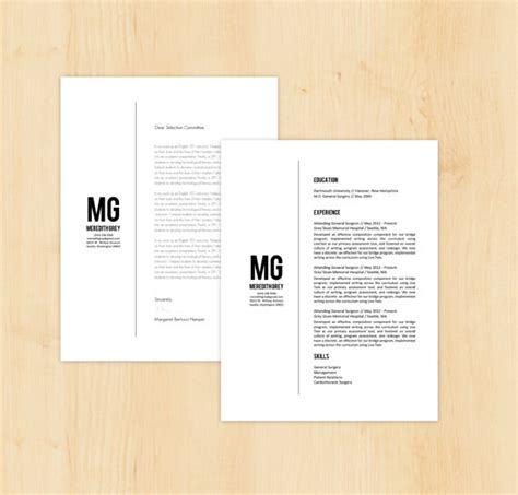 Resume Cover Letter Template Docx Resume Template Cover Letter Template The Meredith By Phdpress