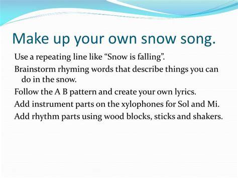 pattern repeating lyrics ppt snow is falling powerpoint presentation id 4875156