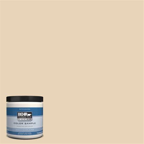 behr premium plus ultra 8 oz ppu7 18 sand pearl interior exterior satin enamel paint sle