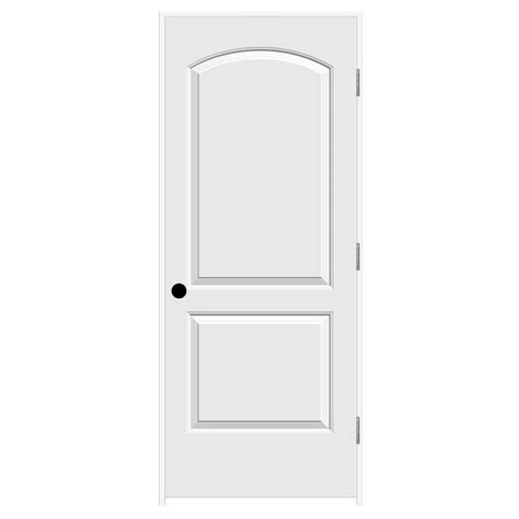 jeld wen interior doors jeld wen 32 in x 80 in continental primed left smooth solid molded composite mdf