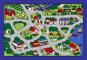 Christmas Bath Rug Street Map Grey Classroom Car Play Large Area Rug 4