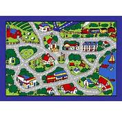 MAP GREY CARS TRUCK CHILDREN PLAY RUG FOR KIDS 5 X 7 NON SKID AREA