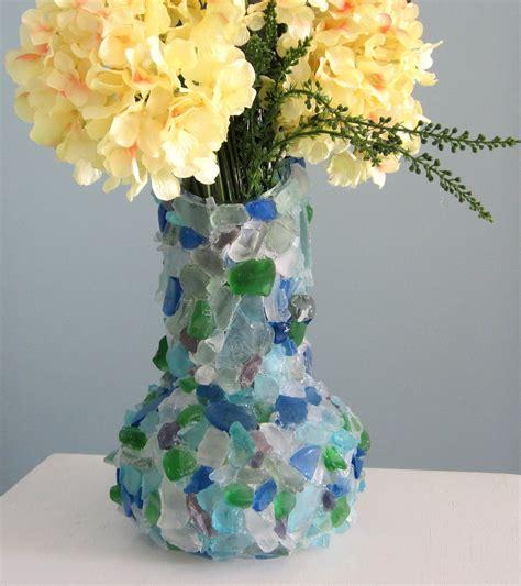 Sea Glass Vase by Decor Sea Glass Vase Nautical Watercolor