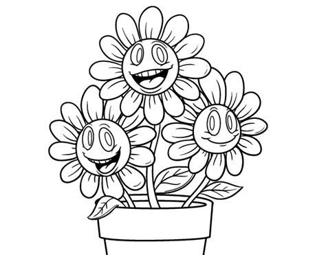 dibujos de macetas con flores para colorear dibujo de maceta de flores para colorear dibujos net