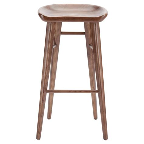 brown wood counter stools jacob modern classic brown walnut wood counter stool