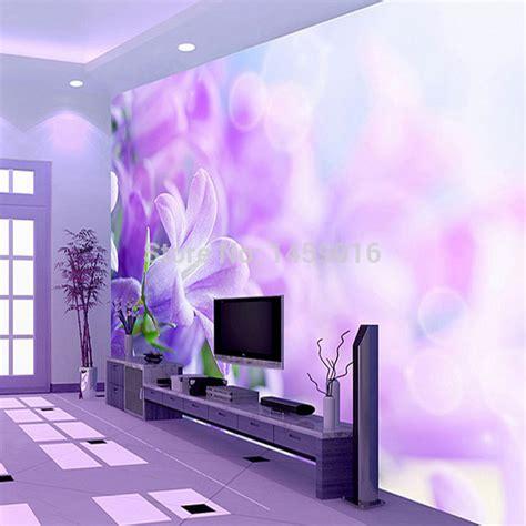 purple flower wallpaper for living room free shipping living room bedding kid s room tv setting wall 3d wallpaper papel de parede jpg